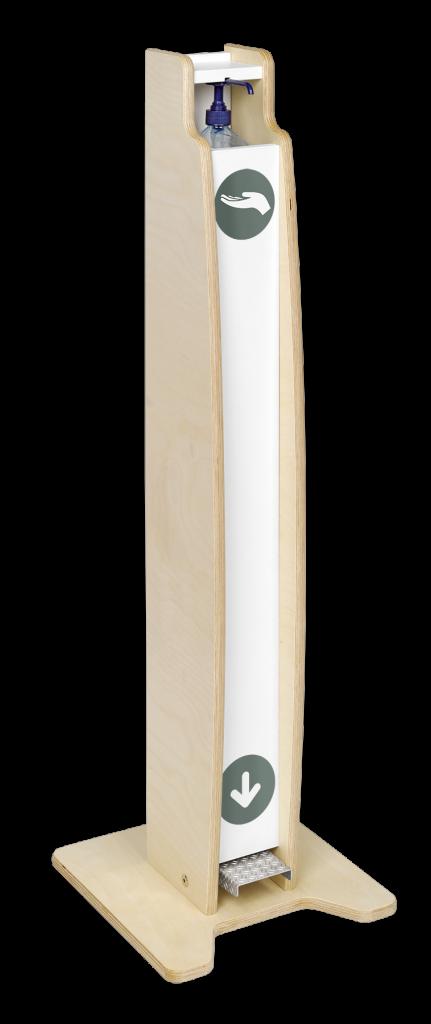 Très belle borne de bois en bouleau naturel de couleur blanche
